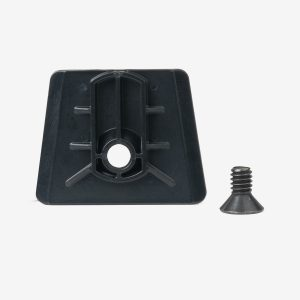 Black dovetail analyzer bracket with black screw