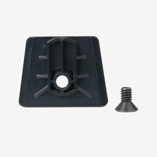 Black dovetail analyzer bracket with black screw