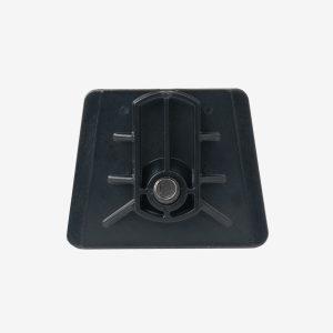 Black dovetail analyzer bracket with screw inside