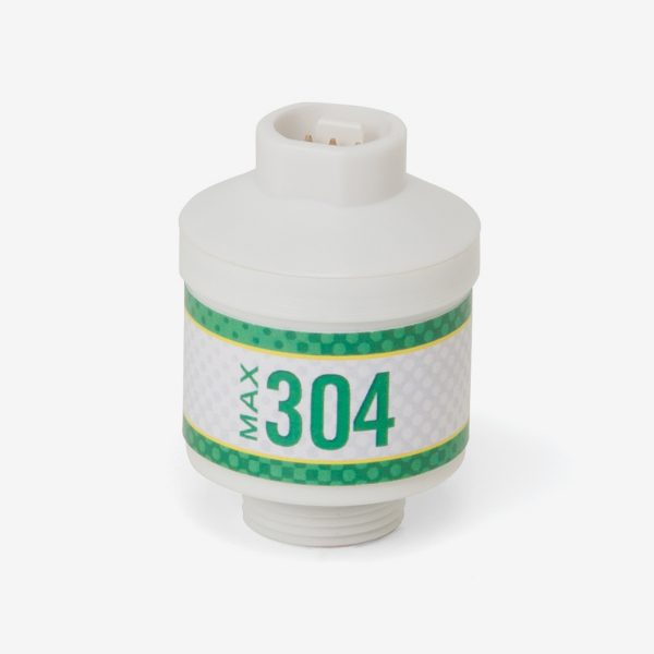 White and green max-304 scuba sensor on white background