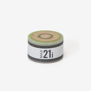 White and grey cylindrical max-21i ppm oxygen sensor on white background