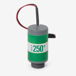 Green and grey Max-250 plus scuba sensor with white background