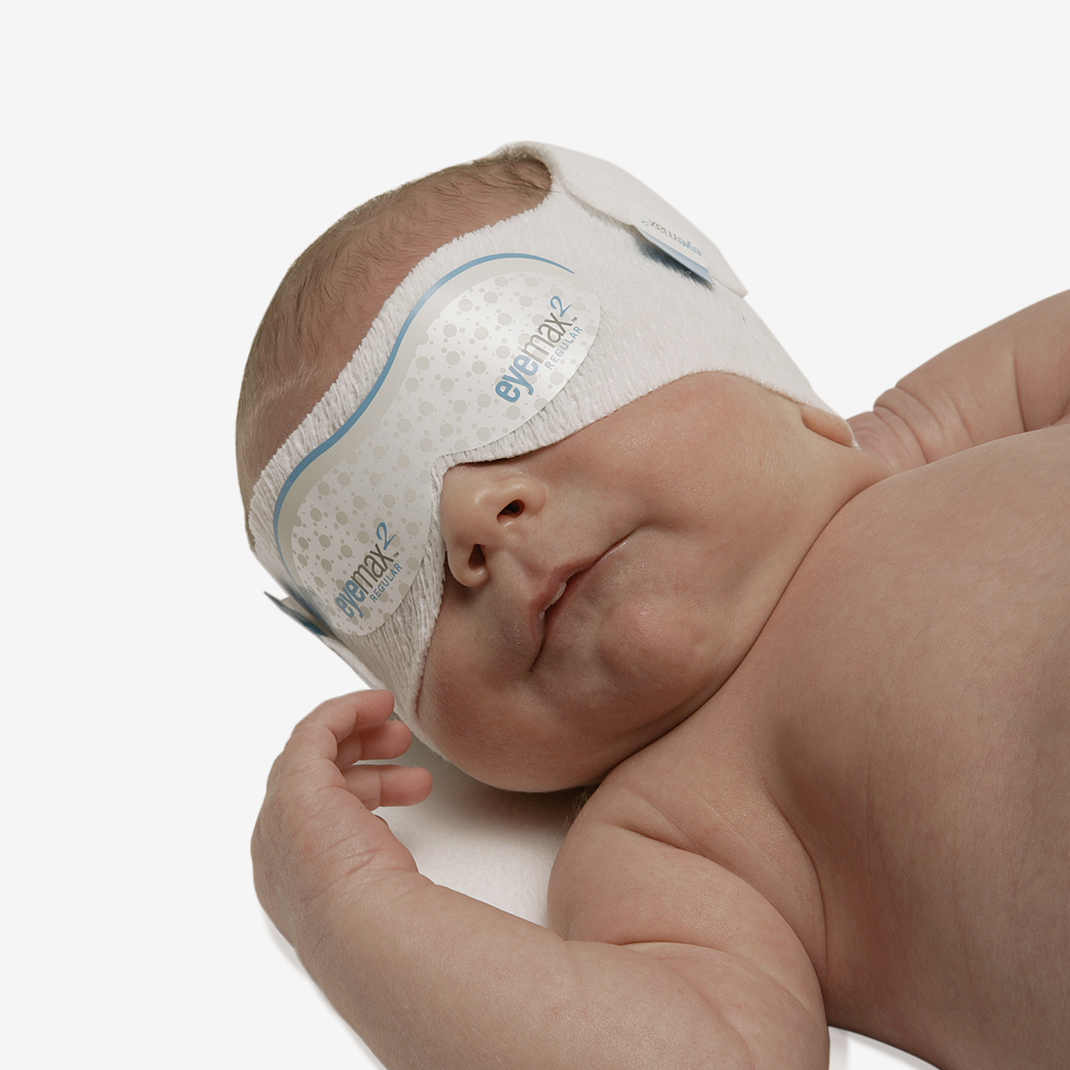 EyeMax 2 Regular phototherapy eye mask on infant