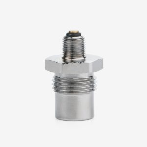 Silver One-Way Check Valve DISS air fitting on white background