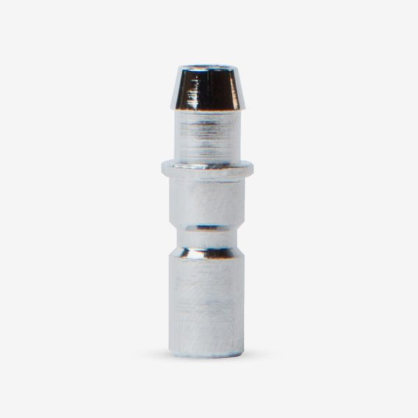Silver BC Adapter on White background
