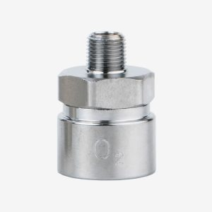 1/8th inch Adapter NPT Male O2 AUST on white background