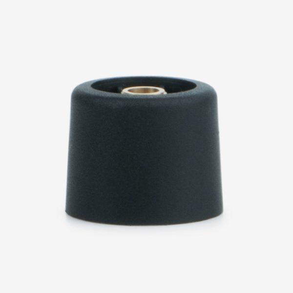 Black Venturi control knob on white background