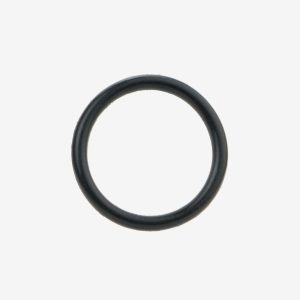 Black NBR 70 O-ring on white background