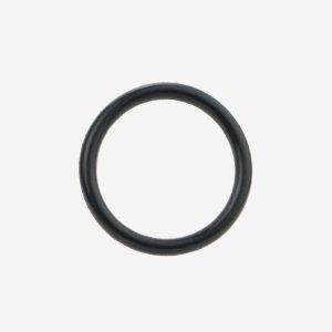 Black NBR 70 O-ring on white background